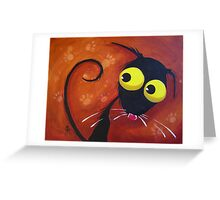 What paw prints? Greeting Card