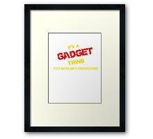 It's a GADGET thing, you wouldn't understand !! Framed Print
