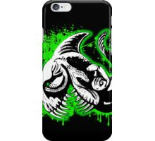 Feisty Fish Green and Black iPhone Case/Skin