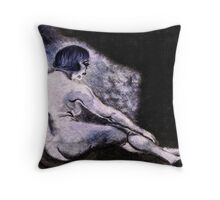 Waiting (for her lover by the flicker of the flame's light.) Throw Pillow