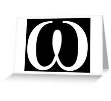 Omega. Greeting Card