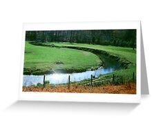 Green Valley Stream Greeting Card