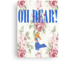 """OH DEAR,"" Alice Exclaimed Canvas Print"