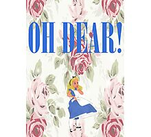 """""""OH DEAR,"""" Alice Exclaimed Photographic Print"""