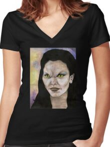 Becoming, Part One - Drusilla - BtVS Women's Fitted V-Neck T-Shirt