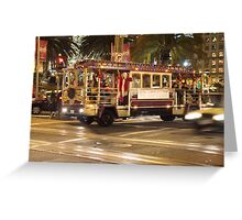 San Francisco in December Greeting Card