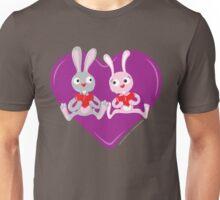 Valentine Rabbits Unisex T-Shirt