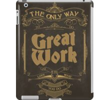 VINTAGE TYPOGRAPHY iPad Case/Skin