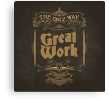 VINTAGE TYPOGRAPHY Canvas Print