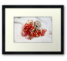 Diglett Wrapping Presents Framed Print