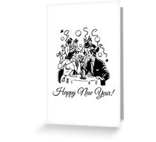 Happy New Year Couple of some bygone age Greeting Card
