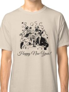 Happy New Year Couple of some bygone age Classic T-Shirt