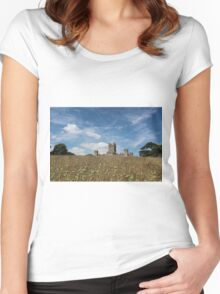 Highclere Castle a.k.a. Downton Abbey Women's Fitted Scoop T-Shirt