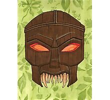 Dead Man's Party - The Ovu Mobani Mask - BtVS Photographic Print