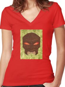 Dead Man's Party - The Ovu Mobani Mask - BtVS Women's Fitted V-Neck T-Shirt