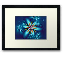3D Flower Framed Print