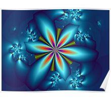 3D Flower Poster