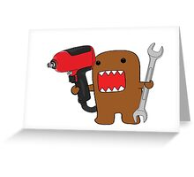 Mr. Mechanic Domo Greeting Card