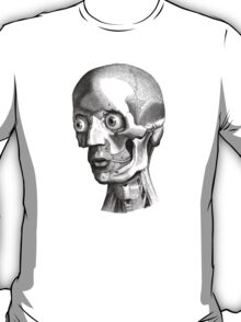 Retro Anatomy Face Horror - yet strangely cute T-Shirt