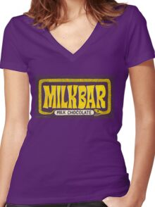 Band Candy - Lurconis Chocolate Bar - BtVS Women's Fitted V-Neck T-Shirt