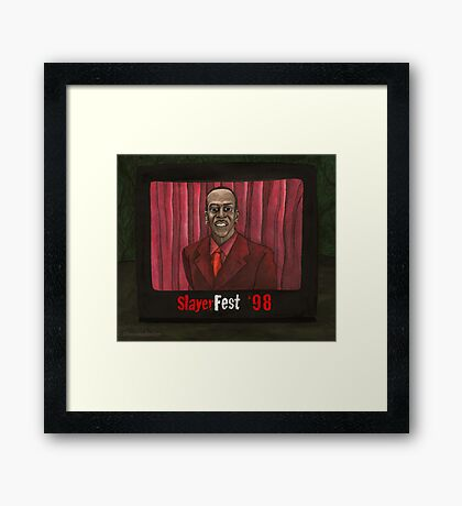 Homecoming - Mr. Trick - BtVS Framed Print