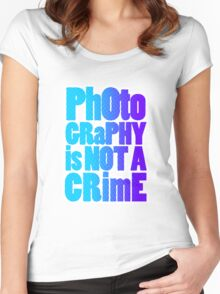 photography is not a crime Women's Fitted Scoop T-Shirt