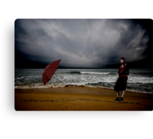 Red Umbrella IV Canvas Print