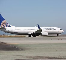 Continental Airlines Boeing 737 by Laurie Puglia