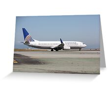Continental Airlines Boeing 737 Greeting Card
