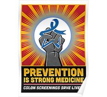 COLON CANCER BLUE STAR FIST Poster