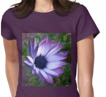 Dream Flower - Beautiful Blue Bokeh Womens Fitted T-Shirt