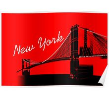 The Brooklyn Bridge New York Design Poster