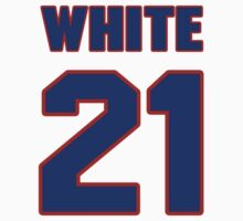 National football player Chris White jersey 21 by imsport