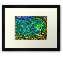 The Tropics in Color Framed Print