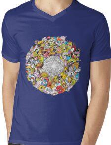 Toon Vortex circular design Mens V-Neck T-Shirt