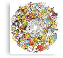 Toon Vortex circular design Metal Print