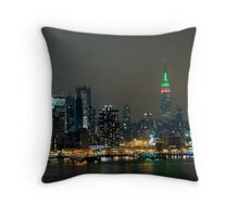 Christmas Skyline Throw Pillow