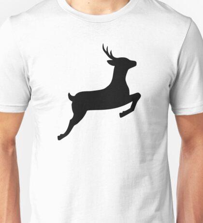 Jumping deer doe Unisex T-Shirt