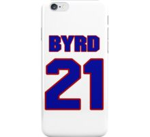 National football player Boris Byrd jersey 21 iPhone Case/Skin
