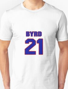 National football player Boris Byrd jersey 21 T-Shirt