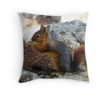 Squirrel Theatre Throw Pillow