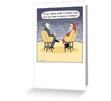 Santa Gets Some Advice Greeting Card