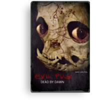 evil dead pug Canvas Print