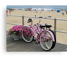 Pink Bicycles  Canvas Print