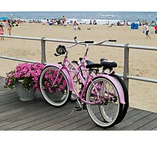 Pink Bicycles  Photographic Print