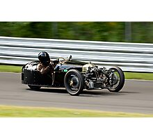 Vintage Morgan three wheeler on the track Photographic Print
