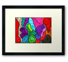 Full Color Abstract Framed Print