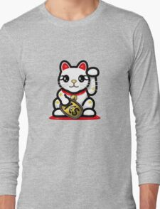 Maneki Neko - Money Cat - ¥€$ Long Sleeve T-Shirt