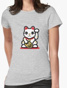 Maneki Neko - Money Cat - ¥€$ Womens Fitted T-Shirt