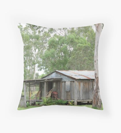 Pioneering Days Throw Pillow